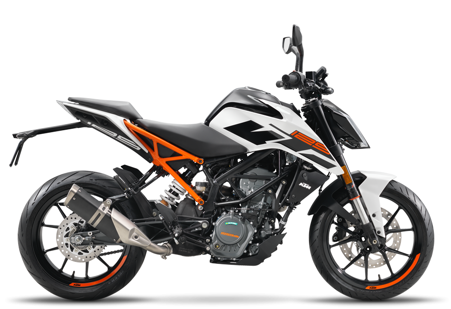 KTM 125 DUKE WHITE (EU) 2018